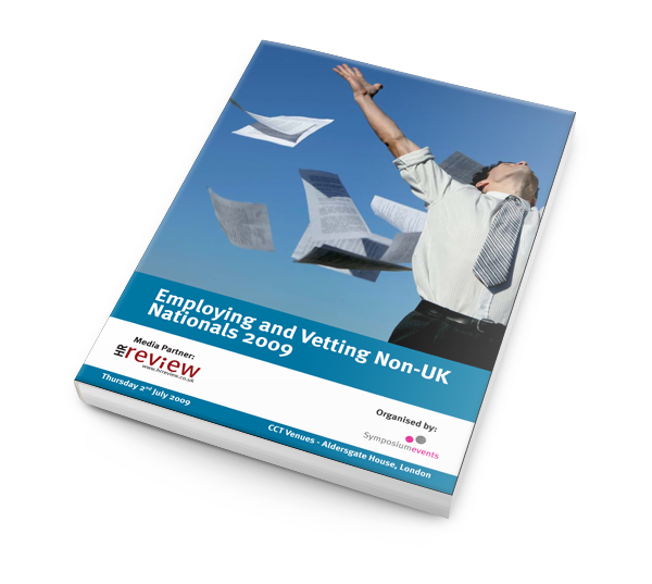 Employing and Vetting Non-UK Nationals 2009