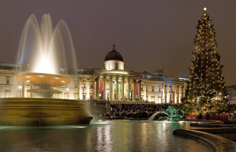 A very festive Trafalgar square