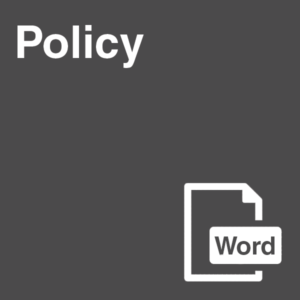 Policy Template in Word format